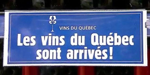 Les vins québécois vendus en épicerie font un