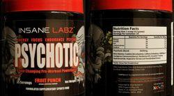 Le supplément «Psychotic» d'Insane Labz est retiré de la vente puisqu'il présente de graves risques pour la