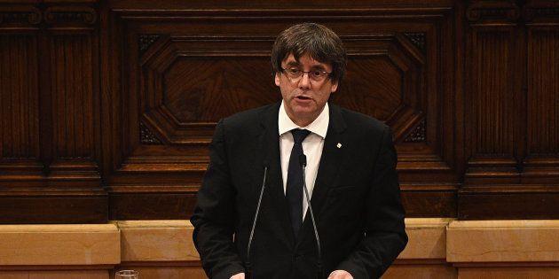 Catalogne: Puigdemont propose de suspendre «les effets» d'une déclaration