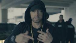 Eminem incendie Trump dans un