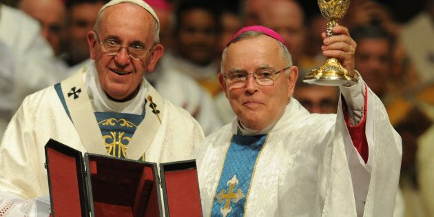 Le pape François 1er et le Mrg Charles