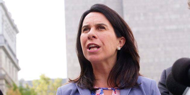 La cheffe de Projet Montréal, Valérie