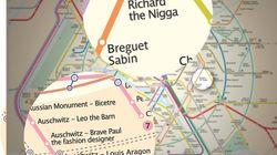 Une fausse carte du métro de Paris traduite en anglais fait