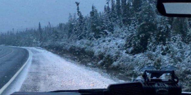 De la neige est tombée en août à la frontière du Québec et du