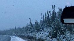 Il a neigé à la frontière du Québec et du