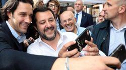 Toni sul palco con Salvini a