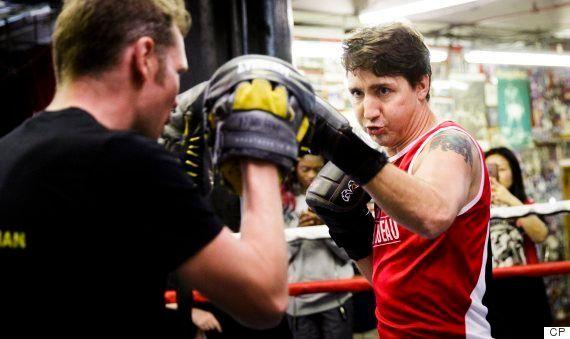 Justin Trudeau participe à plusieurs événements à New York et enfile ses gants de boxe