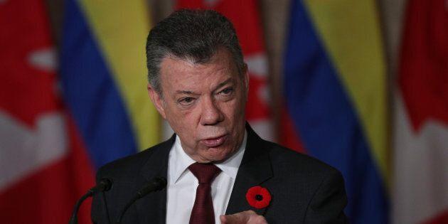 Le président colombien Juan Manuel