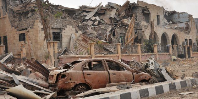 Photo prise après les combats à Deir Ezzor le 5 novembre