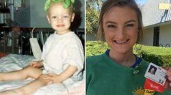 20 ans après son cancer, elle devient infirmière dans l'hôpital pour enfant où elle a été
