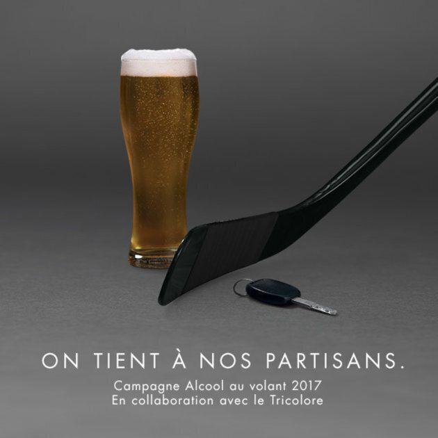 Campagne contre l'alcool au volant: le Canadien s'associe à la