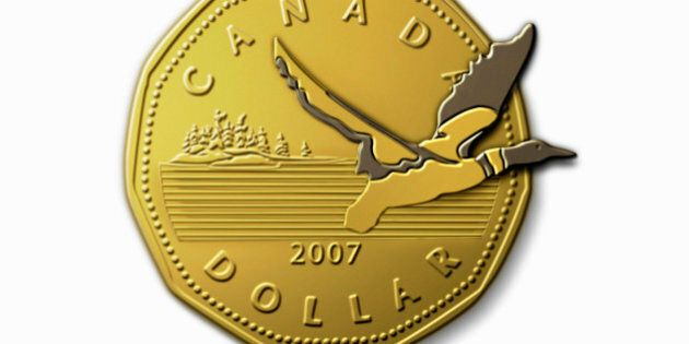 Loon Flying out of Loonie Dollar