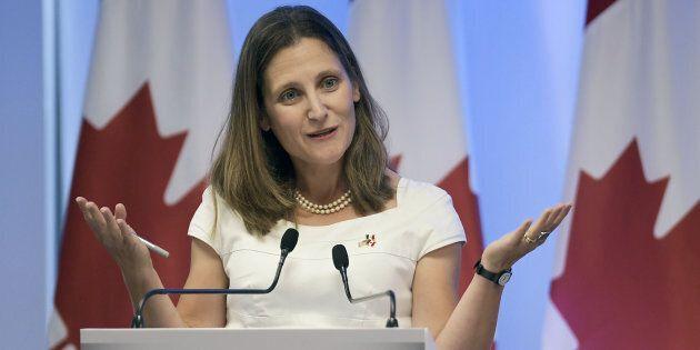 La ministre des Affaires étrangères du Canada, Chrystia