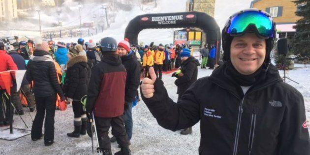 Patrice Malo, président de Tremblant, fier de pouvoir offrir du bon ski en cette première journée.