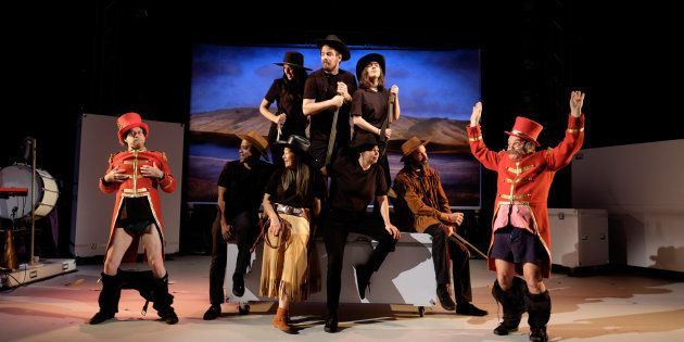«Le Wild West Show de Gabriel Dumont» au Centre national des