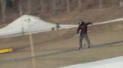 Il a fallu beaucoup d'efforts pour battre ce record du monde à ski