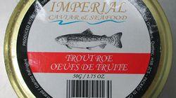 Rappel d'Oeufs de truite Imperial Caviar &