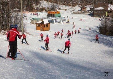 La piste de 1,25km pour le ski de fond à Sommet Morin