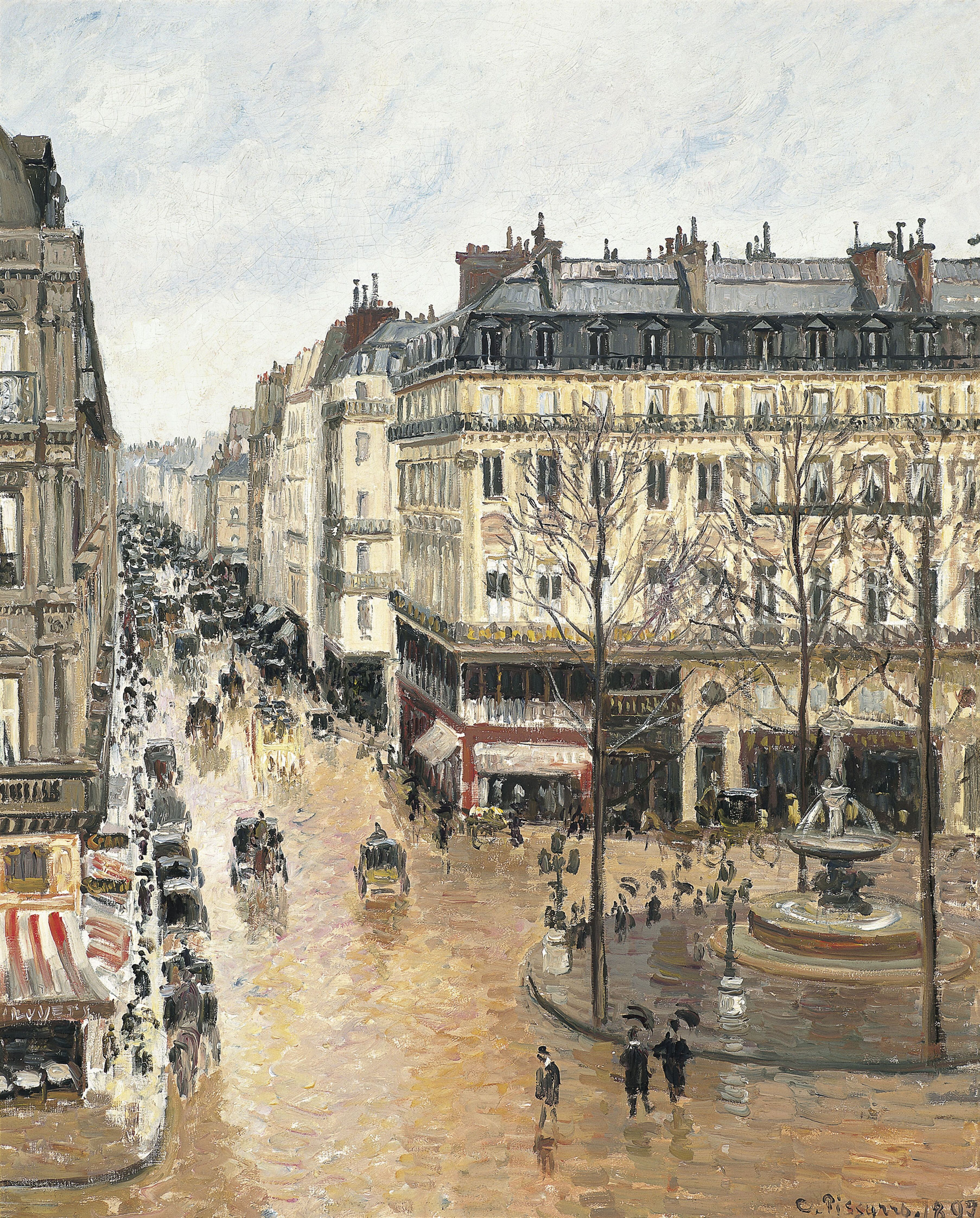 Rue Saint-Honoré in the Afternoon. Effect of Rain, 1897. Found in the collection of the Thyssen-Bornemisza Collections. (Photo by Fine Art Images/Heritage Images/Getty Images)