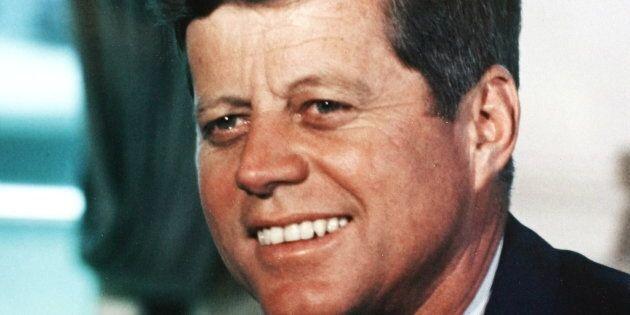 Le président John F. Kennedy, en