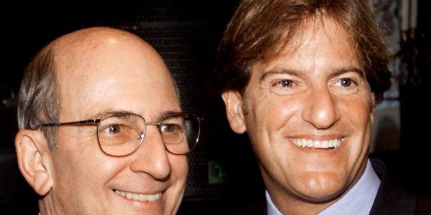 Stephen Bronfman à droite, et son père Charles (à