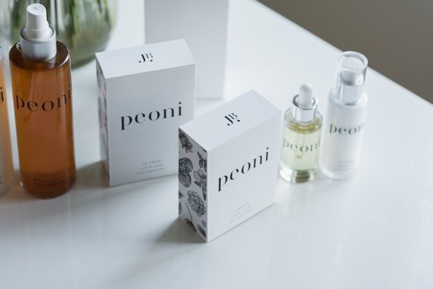 Peoni� Skincare line by JB Skin Guru. Photo credit: Andr�anne Gauthier (CNW Group/JB Skin