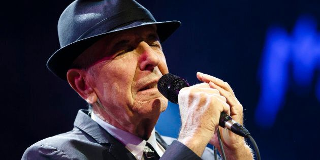 Canadian singer-songwriter Leonard Cohen performs during the first night of the 47th Montreux Jazz Festival...