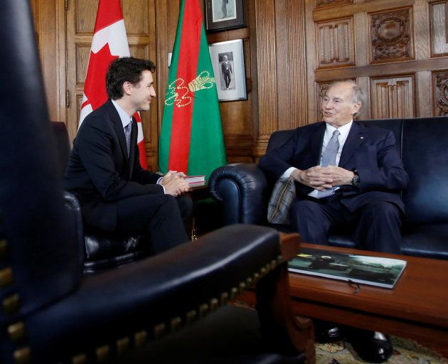 Justin Trudeau et l'Aga