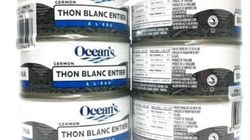 Le thon blanc de la marque Ocean's, possiblement insalubre,