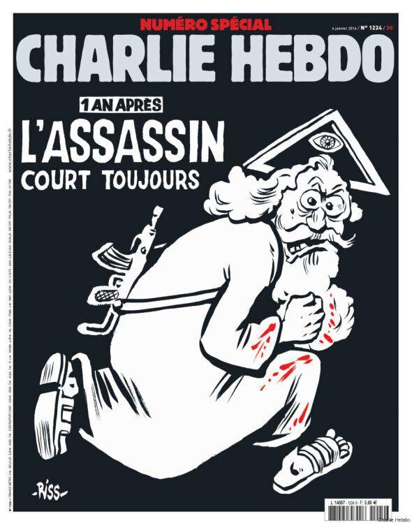 La Une du numéro spécial de Charlie Hebdo, deux ans après