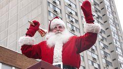 Défilé du Père Noël samedi sur la rue Sainte-Catherine, à