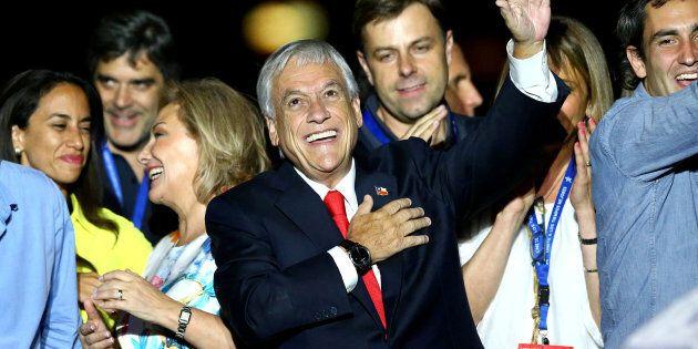 Le président Sebastián Piñera, après sa