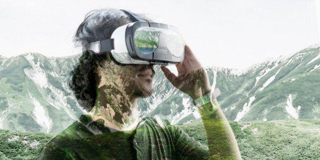 He enjoying the experience of virtual
