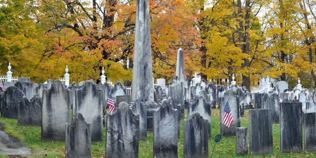 Le cimetière de Bennington, au