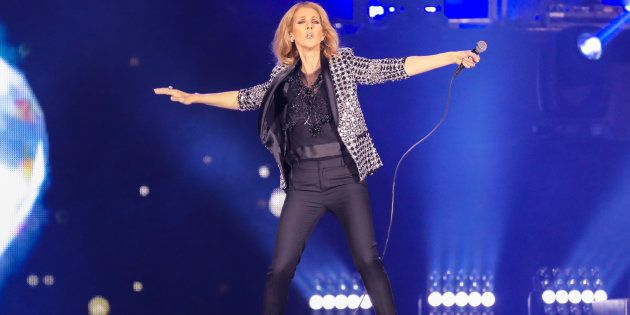 NICE, FRANCE - JULY 20: Celine Dion performs at Allianz Riviera Stadium on July 20, 2017 in Nice, France....