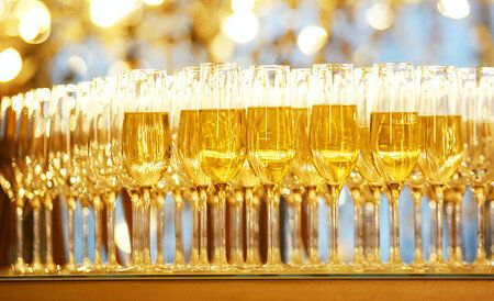 65631670 - champagne glasses on new year party. concept event picture. selective focus.