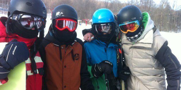 Difficile de se reconnaître avec le look « momie » sur les pistes de ski alpin ces