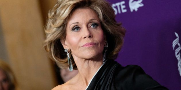 Jane Fonda attends the red carpet arrivals at the 19th Costume Designers Guild awards presented by Lacoste...