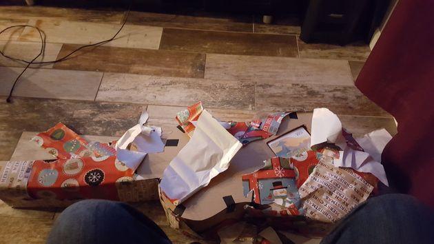Pour son cadeau de Noël, son frère a fait preuve de beaucoup d'imagination