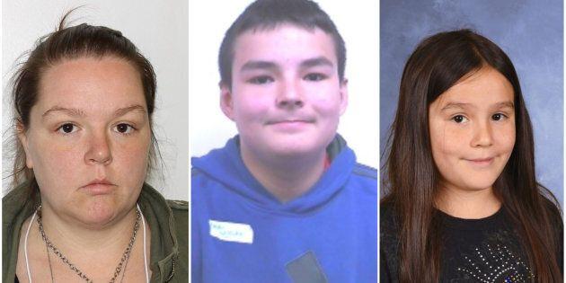 Stéphanie Richard-Girard, 32 ans, Xander Wiscutie, 14 ans, Océanne Richard, 9 ans.