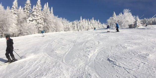 Conditions et paysages parfaits au Mont Tremblant mercredi