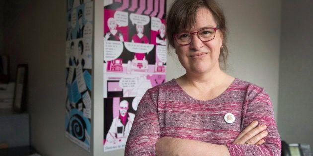 La nouvelle présidente de la Fédération des femmes du Québec, Gabrielle Bouchard, dans son bureau. Elle...