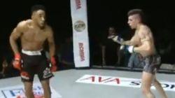 En MMA, ce n'est vraiment pas une bonne idée de se pavaner ainsi devant son