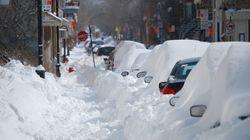 Plus de neige que prévue est tombée dans la région de
