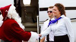 Pour célébrer Noël, ce pilote d'avion a vu les choses en