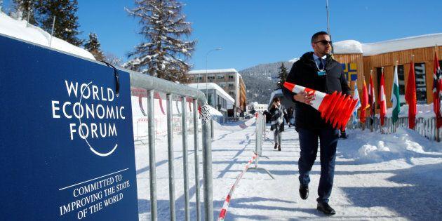 Davos 2018, l'arroseur