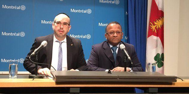 Lionel Perez, chef de l'opposition officielle, et Alan DeSousa, porte-parole en matière de finances