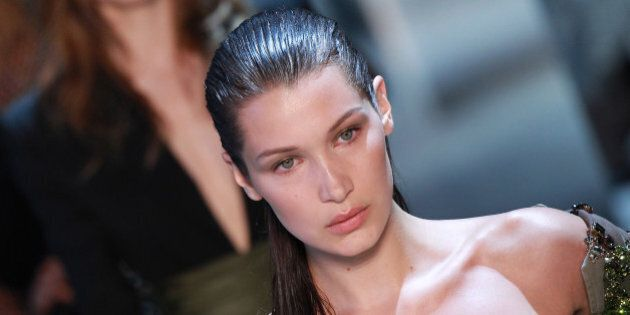 PARIS, FRANCE - JULY 05:  Bella Hadid walks the runway during the Alexandre Vauthier Haute Couture Fall/Winter 2016-2017 show as part of Paris Fashion Week on July 5, 2016 in Paris, France.  (Photo by Antonio de Moraes Barros Filho/WireImage)