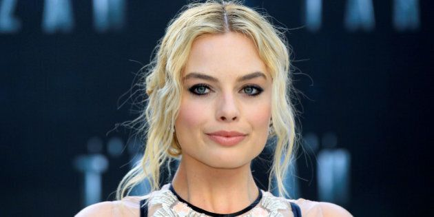Australian actress Margot Robbie poses at the European premiere of the