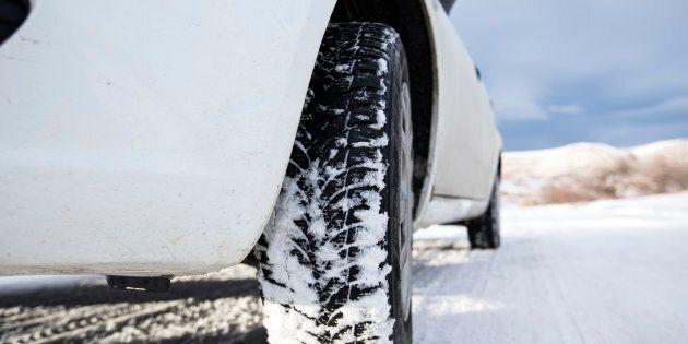 Close-up frozen car